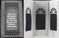 window brickwork for small hex box