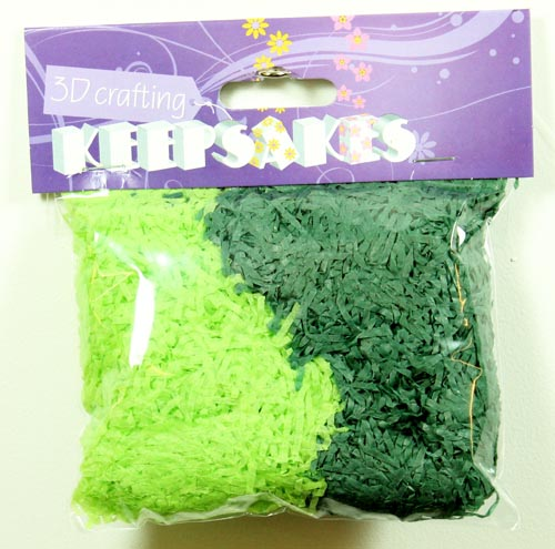 Light & Dark Green Two Tone Shredded Tissue