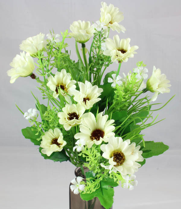 Mini Daisy Spring Bush White & Cream Flowers