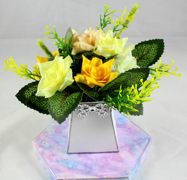 Mini Open Rose Flower Pack for New Flower Box Keepsake Kit Yellow
