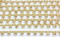 bdhk0826g 6mm gold pearl braid with clear diamante edging