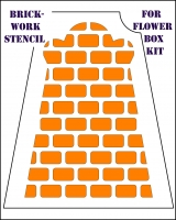 brickwork stencil for flower box front cover