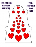 cascading hearts stencil for flower box front cover