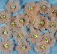 peach iridescent organza decorative daisies