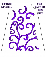 swirls stencil for flower box front cover