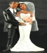 Resin Ethnic Bride & Groom Standing 05