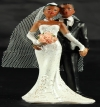 Resin Ethnic Bride & Groom Standing 06