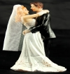 Resin White Bride & Groom Standing 02