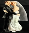 Resin White Bride & Groom Standing 03