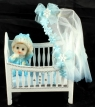 Blue Veil & Blanket Kit for Baby's Cot