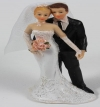 Resin White Bride & Groom Standing 09