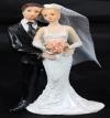 Resin White Bride & Groom Standing 10