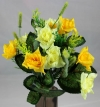 Mini Open Rose Spring Bush Yellow/Pale Yellow/Green