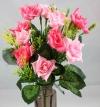 Mini Open Rose Spring Bush Dark & Light Pink