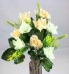 Mini Open Rose Spring Bush Peach & Cream Roses