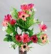 Mini Daisy Spring Bush Dark Lilac/Pink & Pink/Cream Flowers
