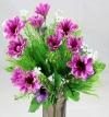 Mini Daisy Spring Bush Light & Dark Lilac/Lavender Flowers