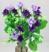 Mini Rose Bush Dark & Light Lavender Roses