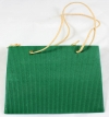 Green Corrugated Finish Rope Handle Gift Bag