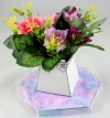Mini Open Rose Flower Pack for New Flower Box Keepsake Kit Purple & Pink