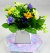 Mini Rose Flower Pack for New Flower Box Keepsake Kit Light/Dark Lavender, Yellow & Ivory