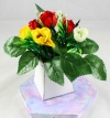 Mini Rose Bud Flower Pack for New Flower Box Keepsake Kit Red, Yellow & White