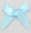 7mm Satin Ribbon Bow Baby Bue Pack of 10