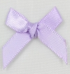 7mm Satin Ribbon Bow Lilac Pack of 10