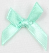 7mm Satin Ribbon Bow Mint Pack of 10